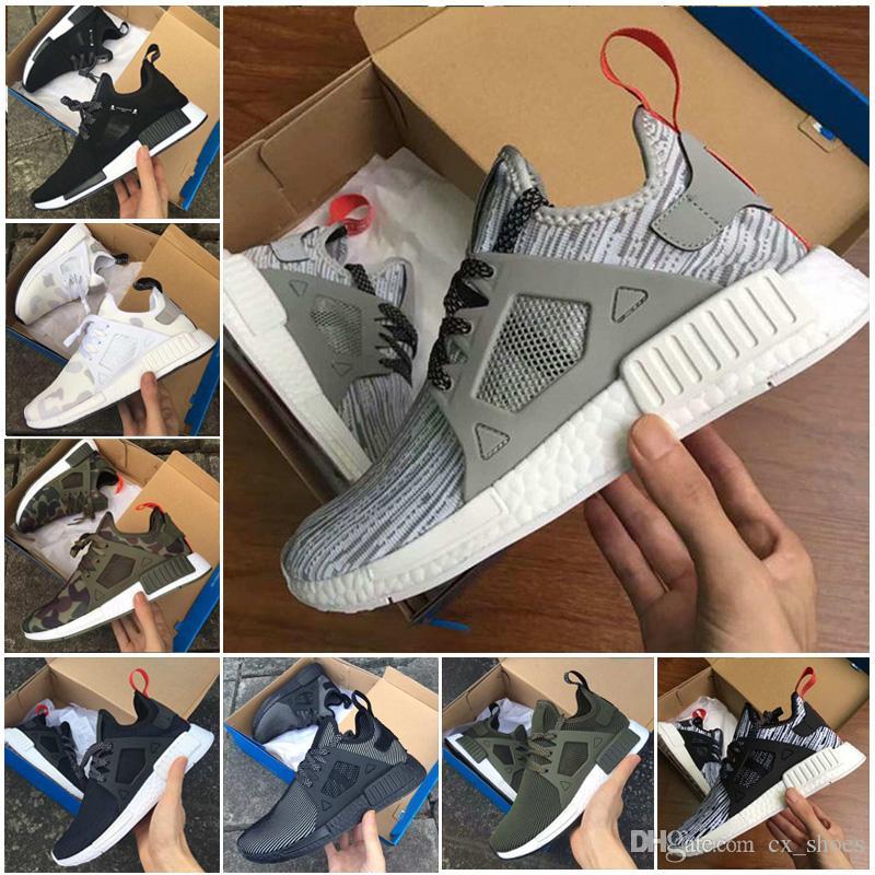 super popular 8370b 5e19f Compre Original Adidas Nmd Xr1 Primeknit Pk Cebra Triple Negro Blanco Mente  Maestra Japón Azul Rojo Hombres Mujeres Corredor Zapatos Corrientes Zapatos  ...
