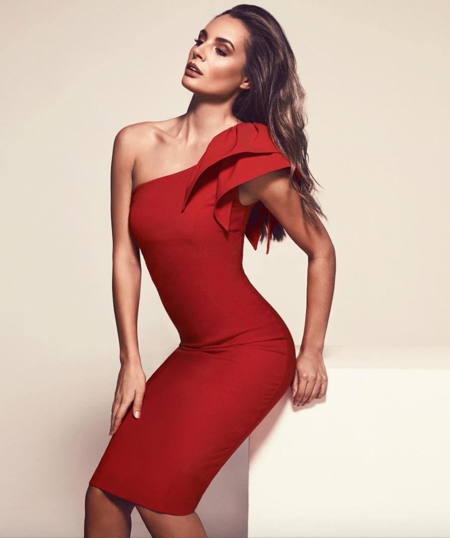 ba21eaf021aaf Satın Al OLOEY Kadın Elbise Yılbaşı Yılbaşı Elbisesi Için Kırmızı Elbise Şık  Pileli Bir Omuz Bodycon, $47.16 | DHgate.Com'da