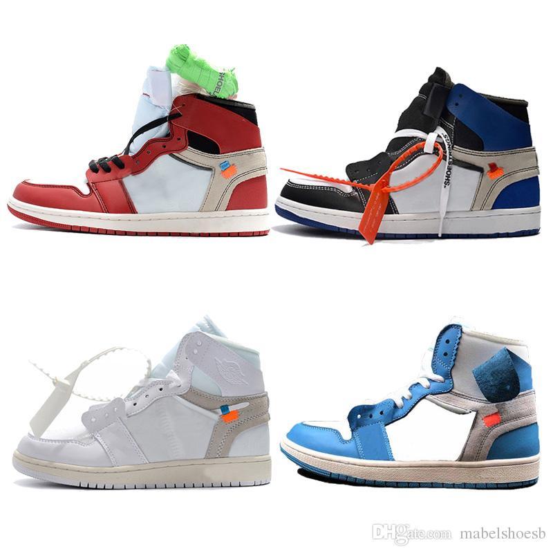Unc Rouge Qualité Top Marque Sport Mens En Plein Double Boxed 1 Basket Blanc Baskets Athlétique Bleu Hot Air Chaussures Oyn8wvm0N