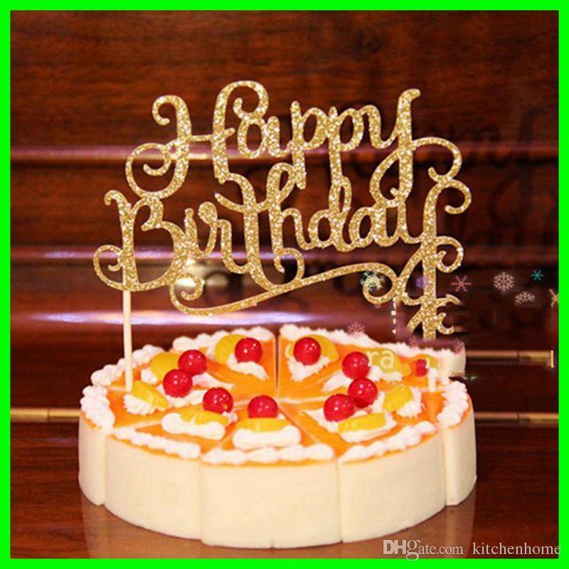 Grosshandel Alles Gute Zum Geburtstag Kuchen Fahnen Cupcake Kuchen