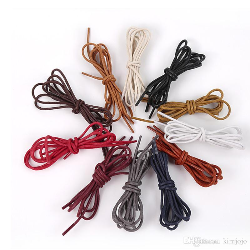 Leather Shoes Laces Cotton High Quality Multicolor Martin boots Shoelaces Round Shape Fine Rope Shoelace