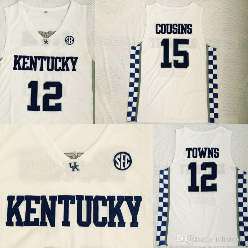 15cf4d5abf51 ... basketball jerseys 6c3d8 9f414  wholesale 2018 kentucky wildcats uk 15  demarcus cousins 12 karl anthony towns university of kentucky college