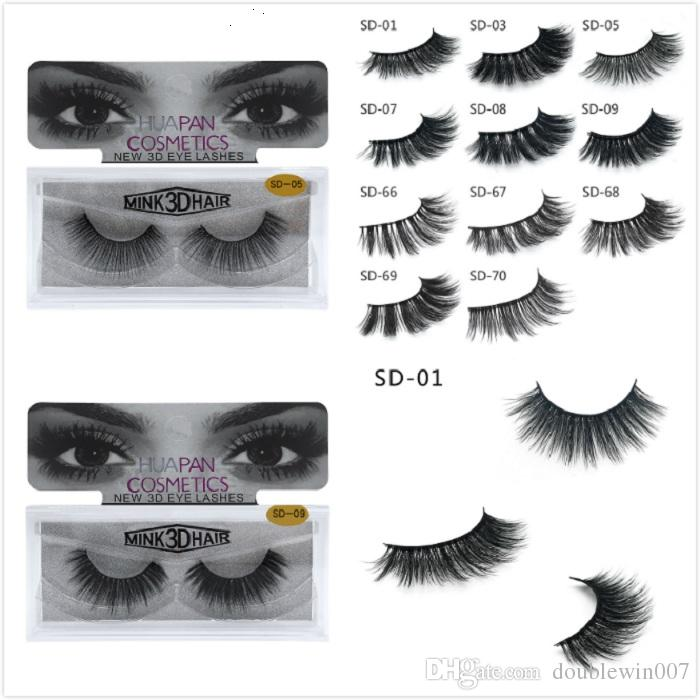 Dhl New 3d Mink Eyelashes Eyelashes Messy Eye Lash Extension Sexy
