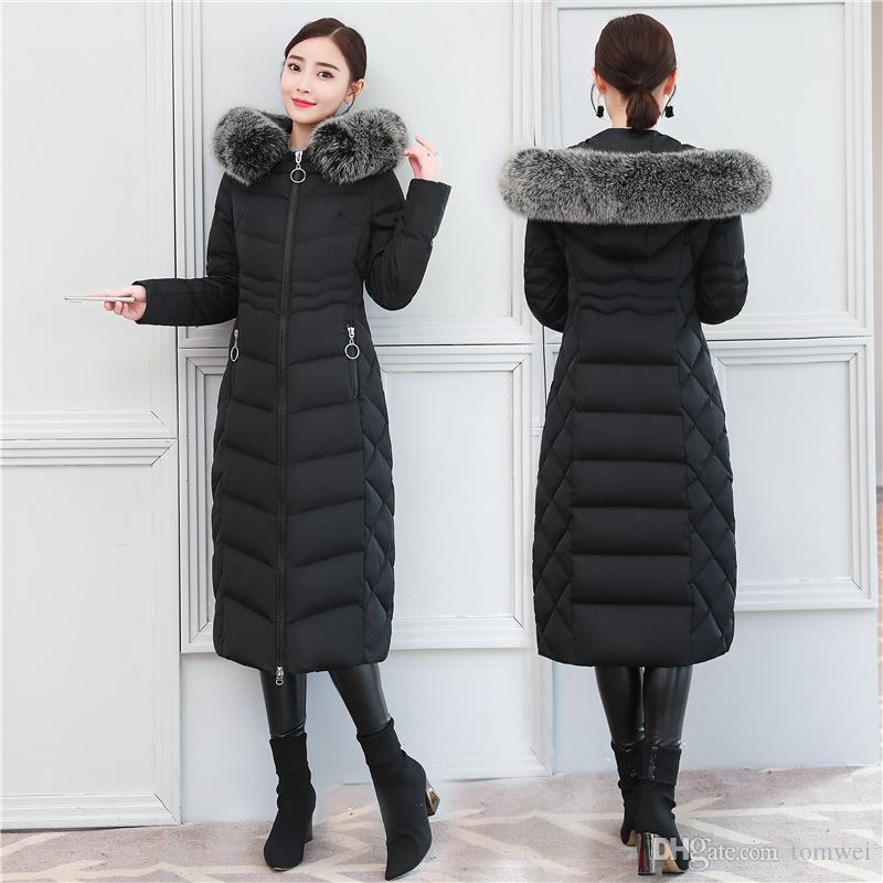 Womens Down Parka Winter Long Coat Snow Duck Down Jacket Real Fox ... b8300cab4