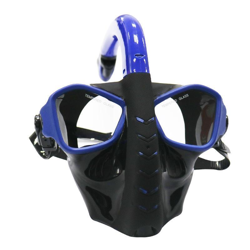 caee480a6 Compre Full Face Máscara De Mergulho 180 Vista Panorâmica Máscara De  Mergulho Com Lente De Vidro Temperado Óculos De Mergulho Para Natação De  Snorkel ...