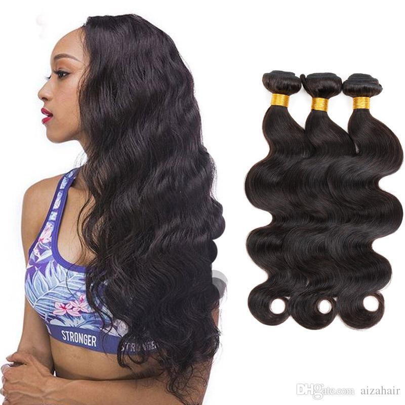 Straight Brazilian Hair Weave Bundles 100 Human Hair Weave