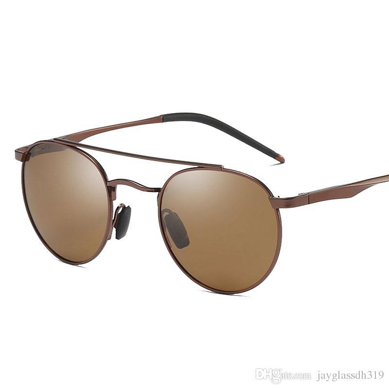Compre Homens De Magnésio De Alumínio Rodada Óculos De Sol Polarizados  Homens Mulheres Do Punk Óculos Vintage Óculos De Marca De Design De  Condução Retro ... b11c541a6e