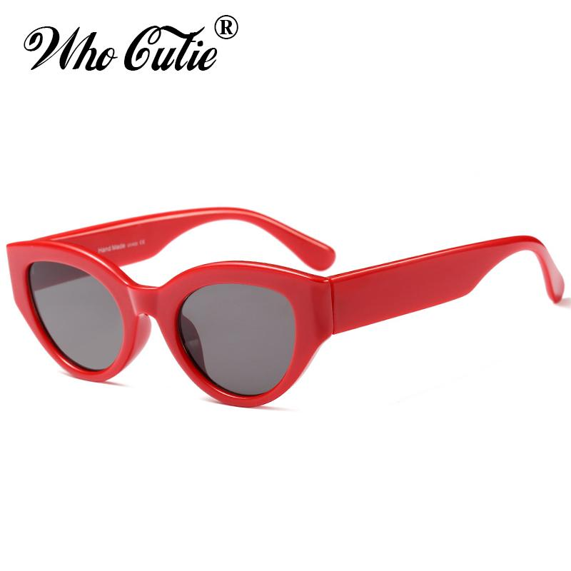 8c5ef21f6f WHO CUTIE 2018 TAZI Bold Full Framed Cat Eye Sunglasses Women Brand Designer  Vintage Oval Lens Urban Chic 90S Sun Glasses OM561 Cheap Designer Sunglasses  ...