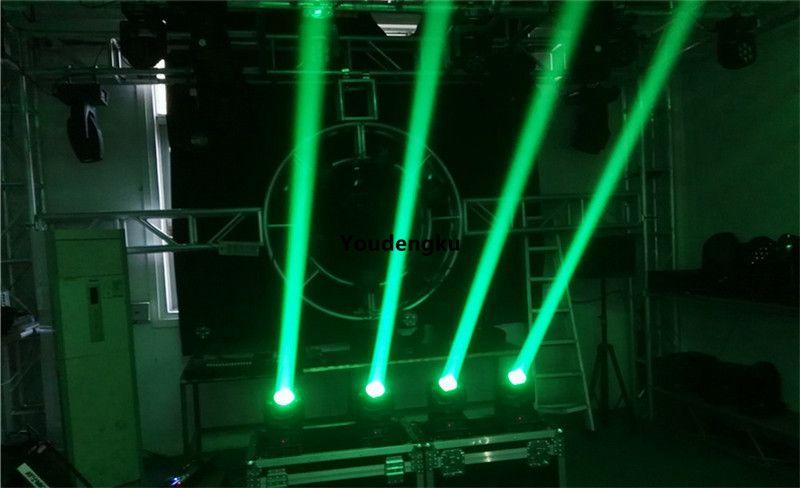 2 шт. RGBW 4in1 LED бесконечный вращающийся луч движущегося головного света 40 Вт Мини луч света мытья