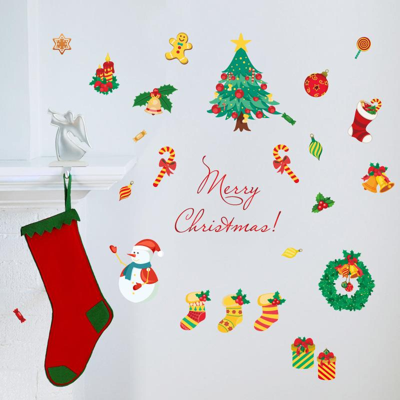 Christmas Pvc Wall Stickers Decorating Christmas Wall Stickers With Environmental Friendly Materials Glass Window Decoration Electrostatic Christmas Wall