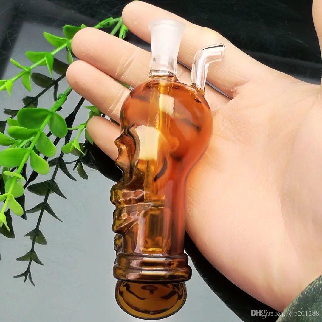 O novo crânio cor garrafa de água de vidro osso Atacado bongs de vidro queimador de óleo tubulações de água de vidro plataformas petrolíferas para fumantes