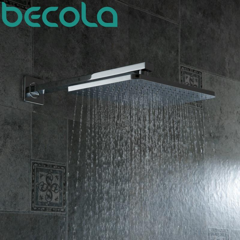 2019 Becola Square Abs Plastic Shower Head 12 Inch Rainfall Shower