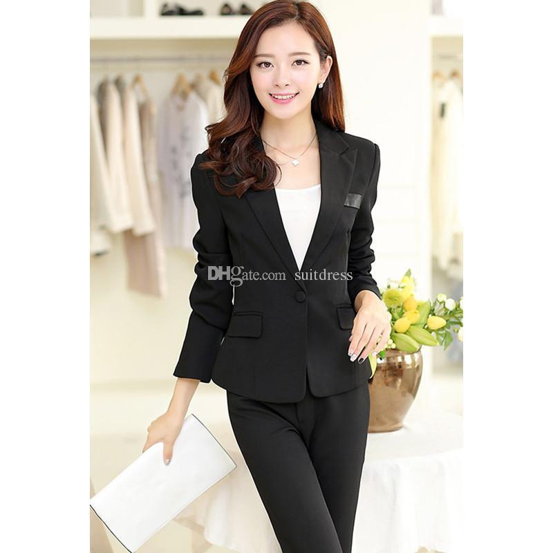 547662a47 Compre Venta Caliente Pantalones Mujer Formal Por Encargo Mujeres Moda De  Invierno Feminino Oficina Señoras Uniforme De Trabajo Ropa Profesional A   52.91 ...