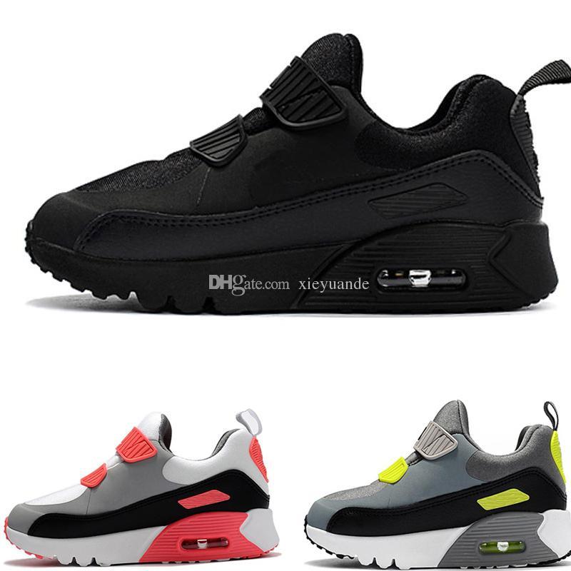 04a7aa4d9cf Compre Nike Air Max 90 Zapatillas De Deporte Para Niños Presto 90 II Niños  Deportes Ortopédicos Jóvenes Entrenadores Para Niños Infant Girls Boys  Zapatillas ...