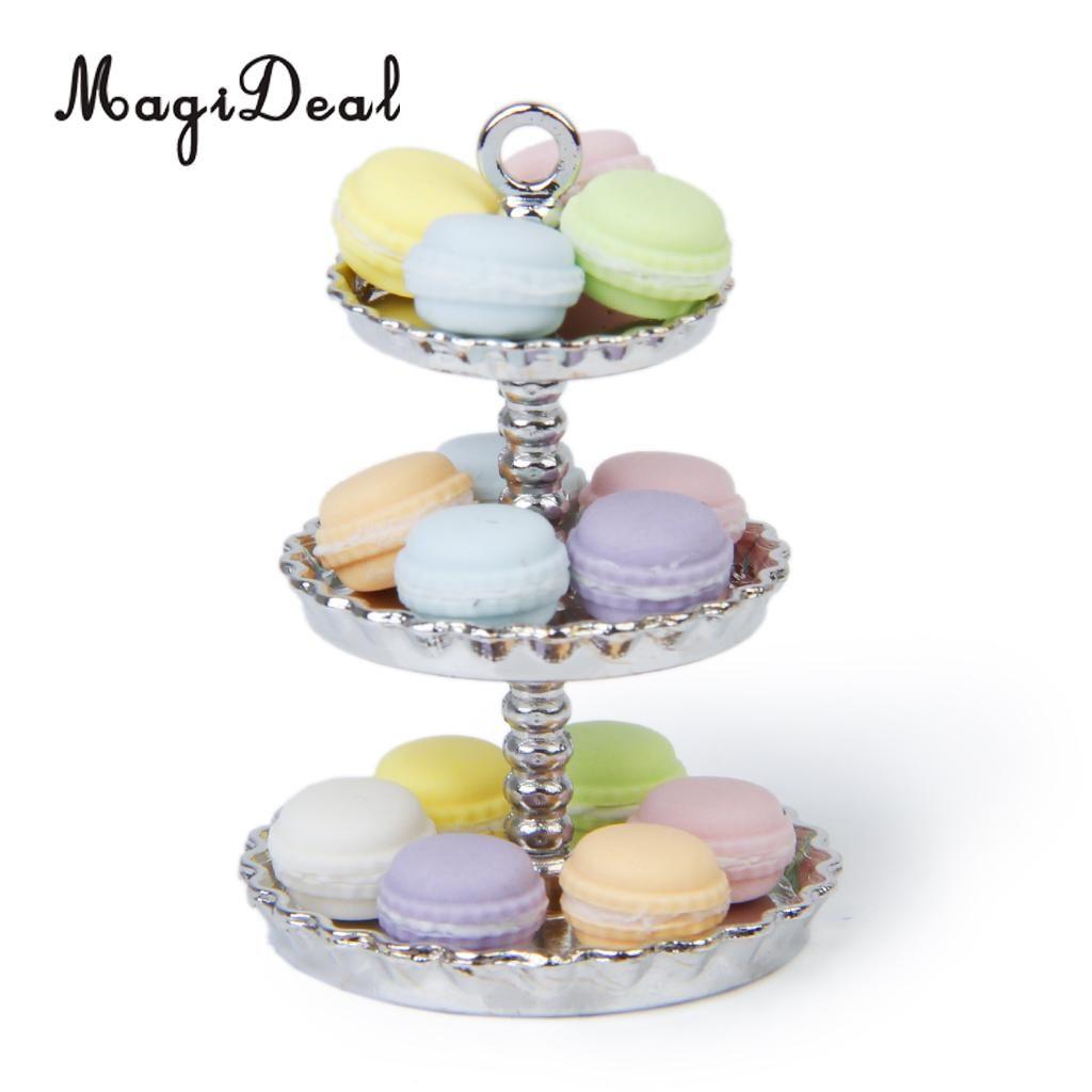 Clay Dollhouse Miniature Cream Cake Set For Dollhouse Birthday