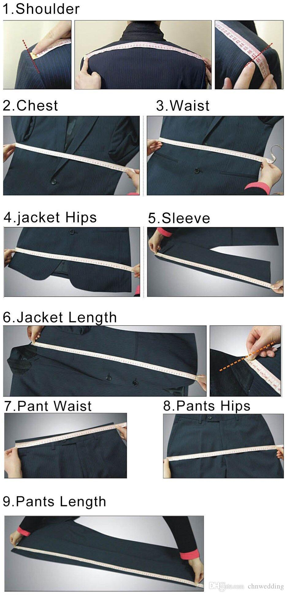 Custom Blue Men Suits 2018 for Wedding Slim Fit TuxedosJacket+Pants+VestGroom Suit Prom Formal Wear