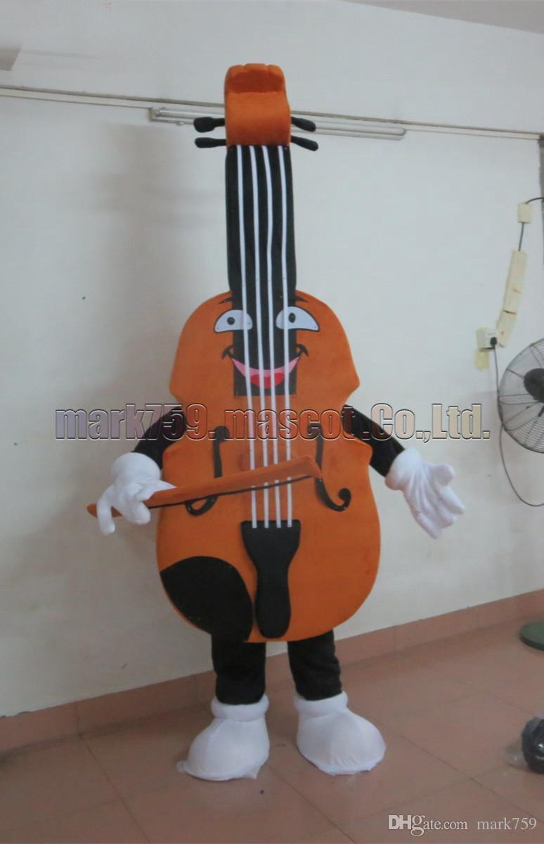 violin mascot costume Free Shipping Adult Size,Cello luxurious plush toy  carnival party celebrates mascot factory sales