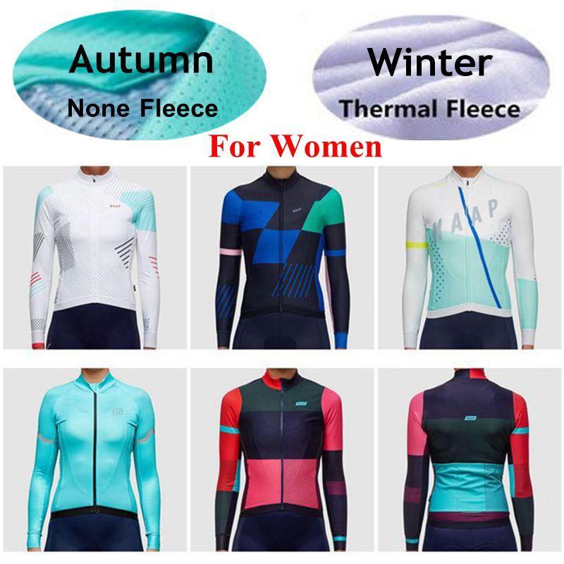 2018 MAAP Women Style Cycling Jerseys Long Sleeves Autumn Winter Thermal  Fleece MTB Ropa Ciclismo Cycling Shirt Tops XS 3XL V Neck T Shirts Long  Sleeve ... 18471a755