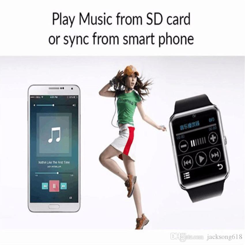 Bestseller Smart Watch GT08 Uhr mit Sim-Kartensteckplatz Push-Nachricht Bluetooth-Verbindung Android Phone Smartwatch GT08 /