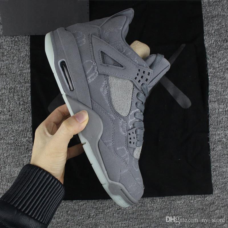 59fd994e8b46b8 2018 KAWS X 4 XX Kaws Cool Grey White Black Glow Basketball Shoes Mens Best  Quality White Blue Black Sports Sneakers Basket Ball Shoes Barkley Shoes  From ...