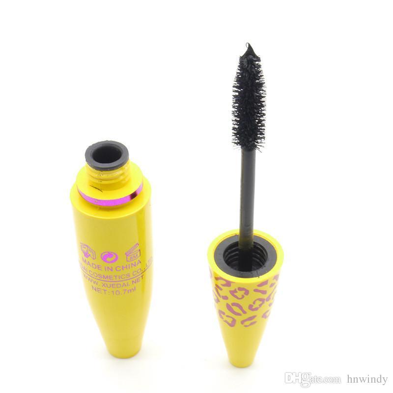 ماسكارا للماء العين رموش تمديد طول أنبوب أصفر طويل الضفر رمش ماكياج أداة التجميل + B DHL