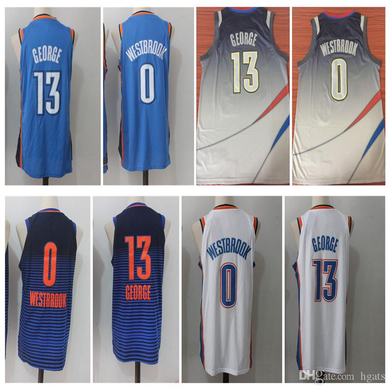 8b5bb3f0753 ... promo code for aliexpress 2018 2018 new men 0 russell westbrook 13 paul  george basketball jersey