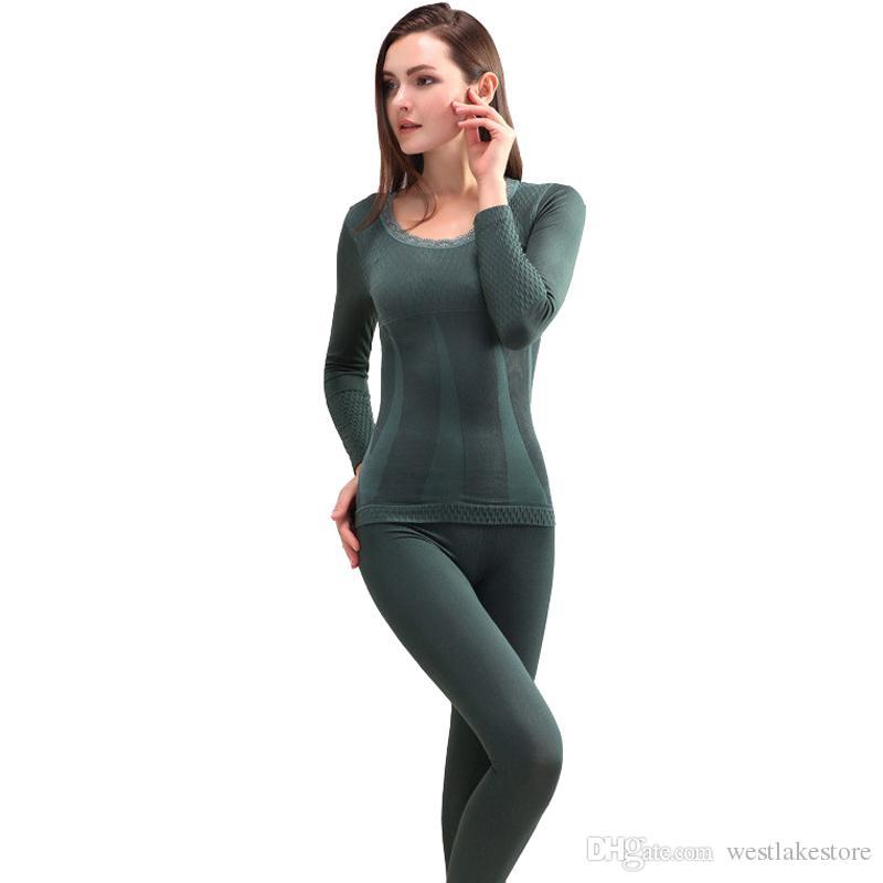 4bf01ae14850 Термобелье устанавливает новые зимние женщины модальные длинные Джонс  бесшовные ...
