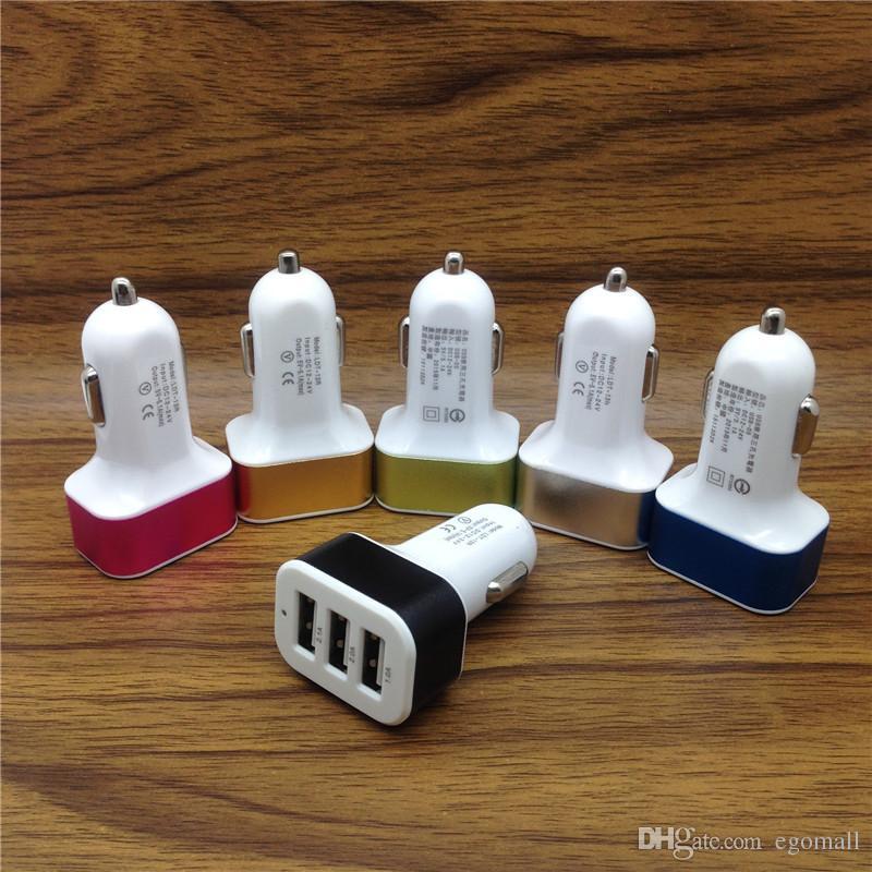Universal Triple Usb Car Charger Adapter Usb Socket 3 Port
