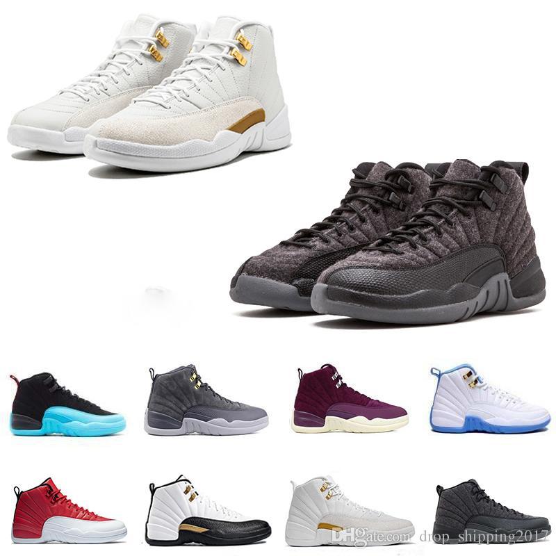 f5a1c78223b 저렴한 신발 12s 남자 농구 신발 12 12s 운동가 나이지리아 블랙 독감 게임 체리 12s XII 남자 스니커즈 마스터 부츠  트레이너 드롭 배송