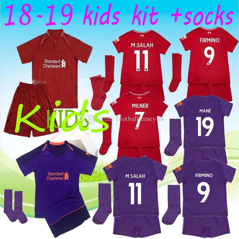 Thailand Soccer Jersey 2018 2019 SALAH Kids Football Shirt SHAQIRI ORIGI  LALLANA FIRMINO VIRGIL MANE Keita Jerseys 18 19 Uniforms M.SALAH Jersey  MANE Jersey ... f37cd1937f59d