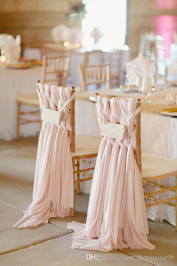 High Quality Chiffon DIY Wedding Decorations Simple Chair Cover 2018 Bridal Wedding Covers Classic Wedding Supplies