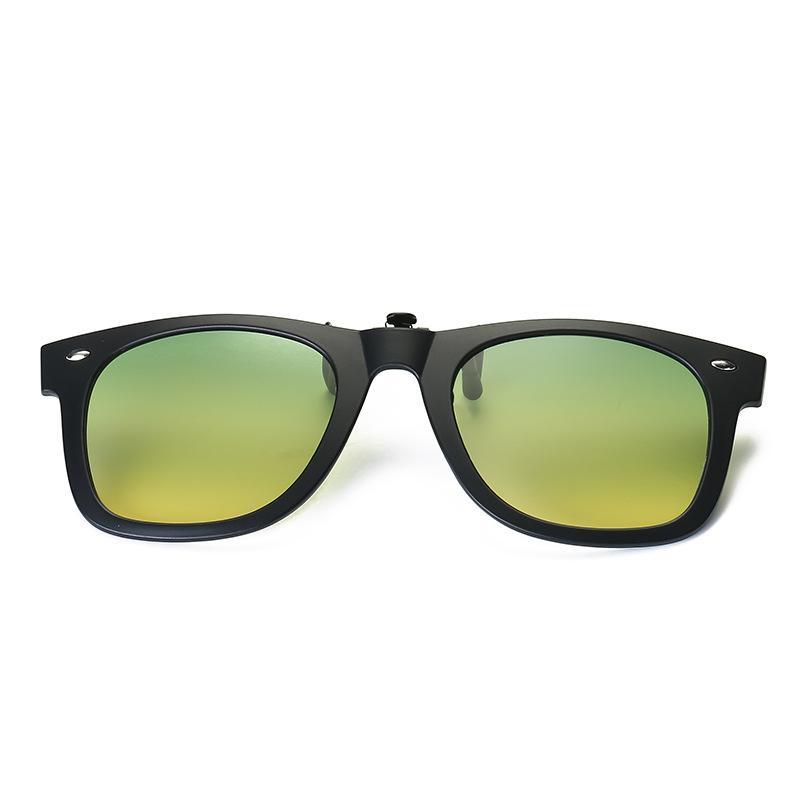 5d0898202d Vazrobe TR90 Clip On Sunglasses Lens Polarized Day Night Driving Fit Over  Glasses Frame Flip Up Lenses Mirrored UV400 Anti Glare Serengeti Sunglasses  Sun ...