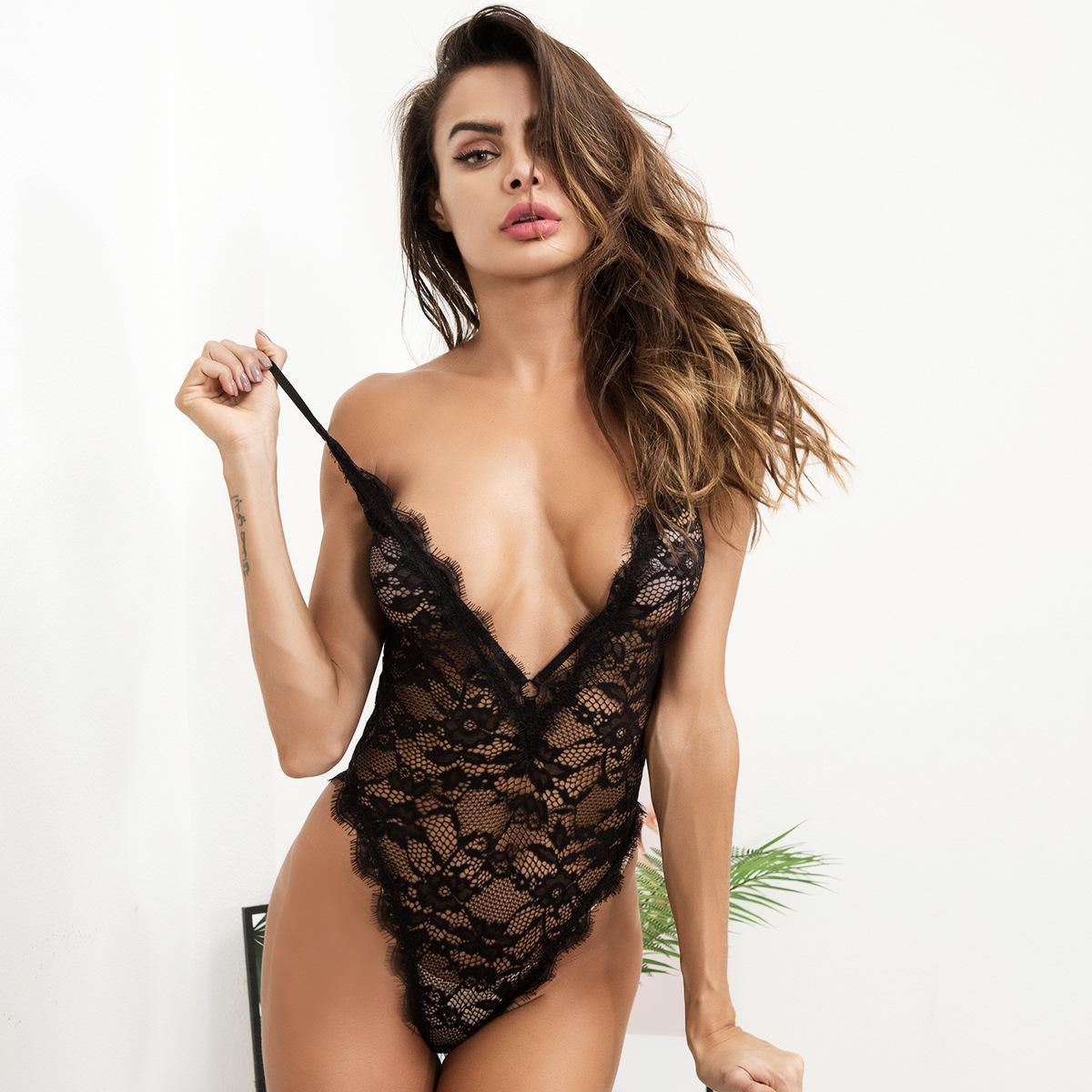 4824880c4 Lingerie Loja Virtual Estação Europeia 2018 Europeus E Americanos  Perspectiva Sexy Lingerie Sexy Coelho Menina Terno De Renda.