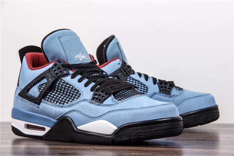 fb3d48e7d6f7 2019 AUTHENTIC TRAVIS SCOTTS 4 HOUSTON OILER 4S CACTUS JACK IV BLUE BASKETBALL  SHOES JOINT LIMITED 308497 406 SNEAKERS WITH BOX 40 47.5 From Polishe