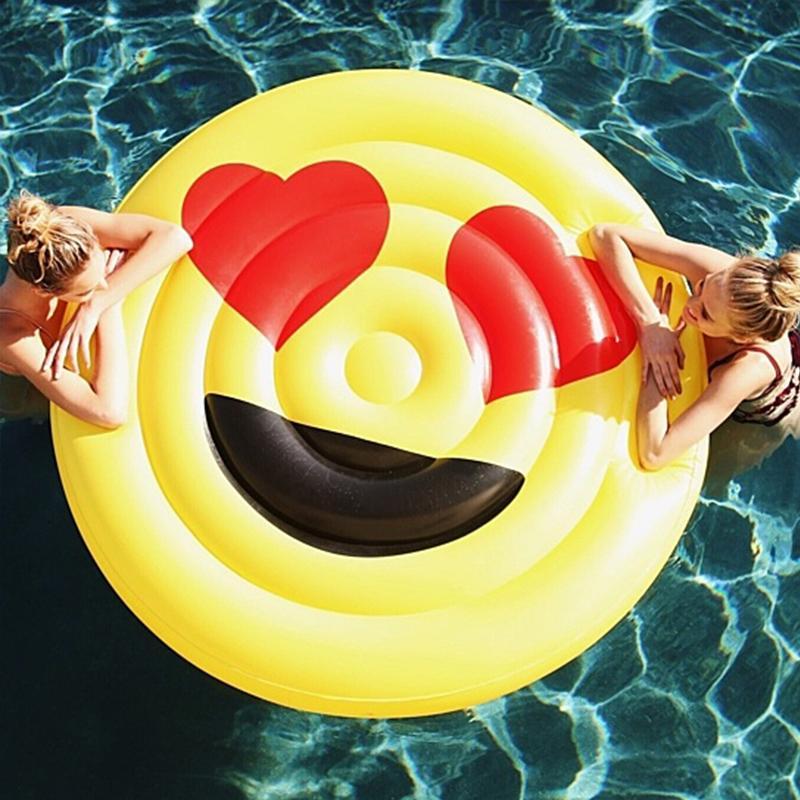 Gonfiabile Emoji Da Acquista Piscina Galleggiante Sole Viso Occhiali xoeCdB