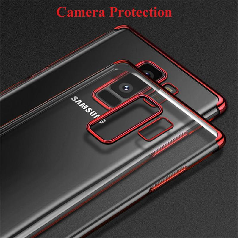 buy online 3b4ff 45f70 Case For Samsung Galaxy A6 2018 Case Luxury Laser Plating Soft Clear Phone  Cases For Galaxy A6 Plus 2018 A8 Plus 2018 back cover