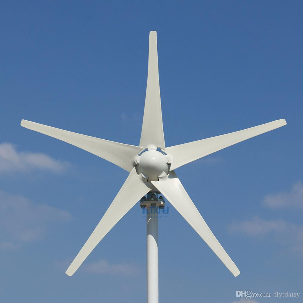 UPGRADED 400W Wind Turbine Generator Three or Five Wind Blades Option 12v  24v 48v controller Fit for Home Or Camping