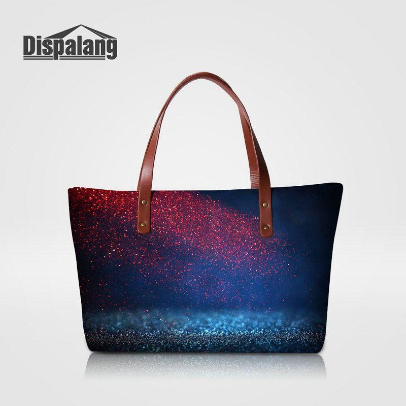 85ce668f07 Unique Design Tote Handbags For Women Universe Space Ladies Portable Travel Shoulder  Bag Girls Party Top-handle Bags Female Big Capacity Bag Handbags Totes ...