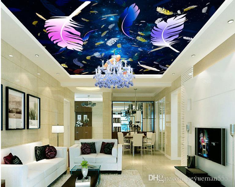 Acheter Personnalise 3d Plafond Europeen Papier Peint Ciel Etoile 3d