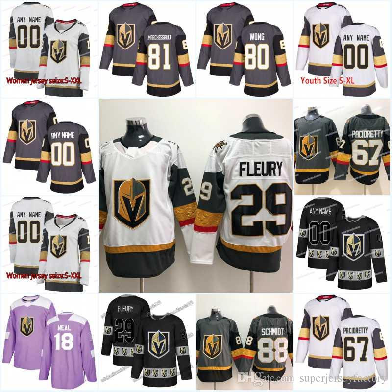 88ebdaa9 2019 New Season Vegas Golden Knights 72 Gage Quinney 41 Pierre Edouard  Bellemare 97 David Clarkson 70 Lucas Elvenes Hockey Jerseys From  Superjerseyfactory, ...