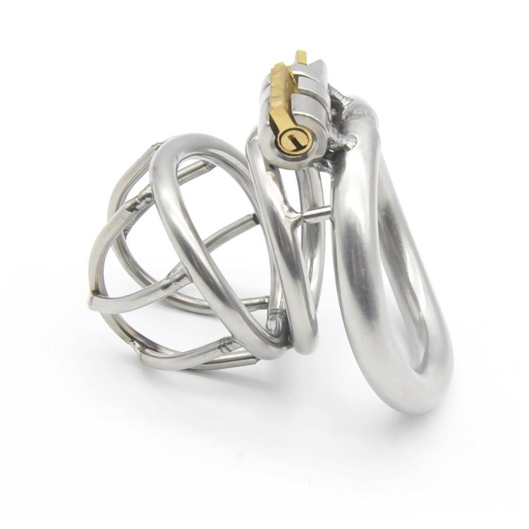 Male Chastity Device Stainless Steel Metal Cock Rings Penis Cage BDSM Sex Toys For Men Chastity Devices Cock Cages A668
