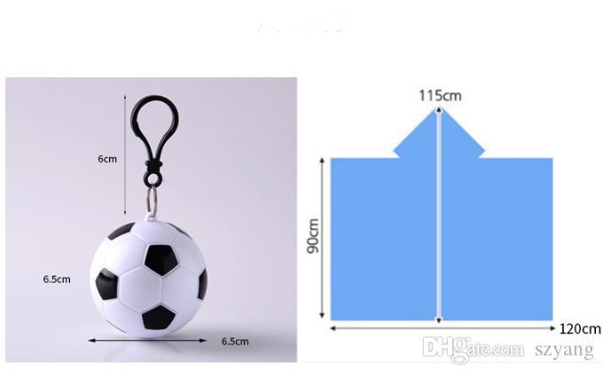 Football Basketball Spherical Raincoat Plastic Ball Key Chain Disposable Portable Raincoats Rain Covers Travel Tour Trip Rain Coat SN1066