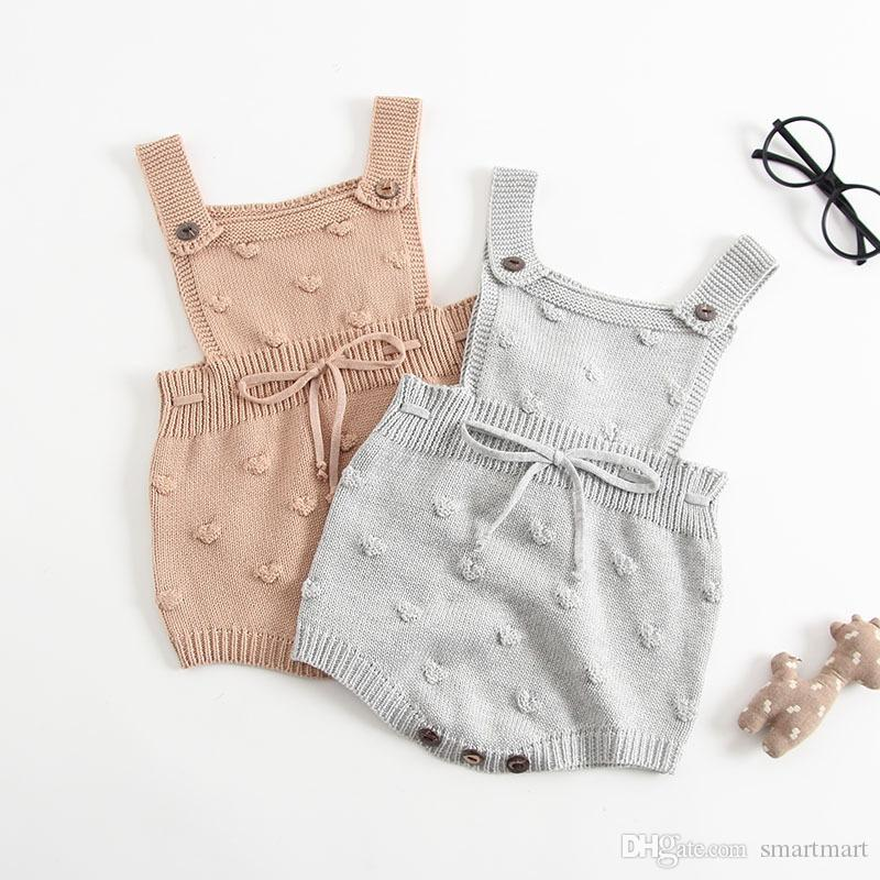 64ef94d29 Everweekend Toddler Girls Baby Rompers Autumn Spring Knnitted Knitting Cute  Infant Sweater New Fashion Crochet Rompers