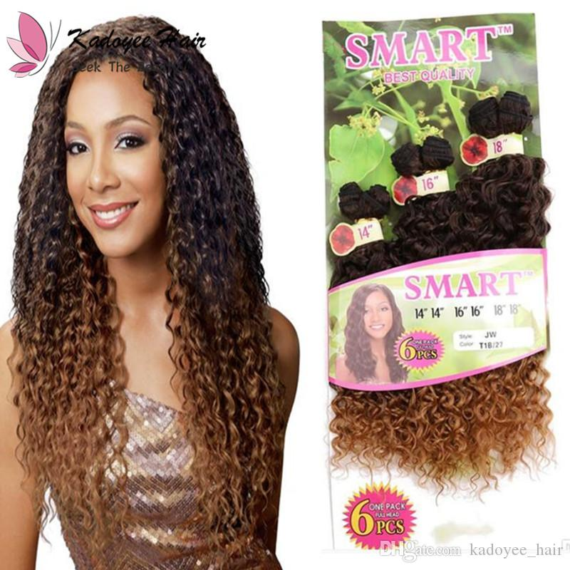 b7997d1f24 Jerry Curl Synthetic Hair Extensions 14 16 18inch Curl Weave Bundles High  Temperature Fiber Weft For African Virgin Human Hair Weave Human Hair  Extensions ...