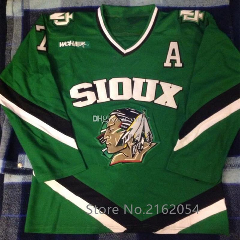 North Dakota Fighting Sioux University  7 TJ Oshie Green Ice Hockey Jersey  Mens Stitched Custom Any Number And Name Jerseys UK 2019 From Yufan4 0957c9dd1