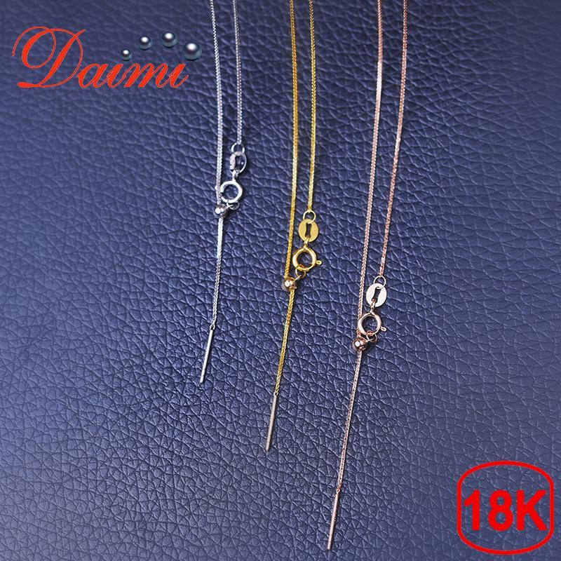 6e8fa5186f75 Compre DAIMI 18K Love Design Button Blanco   Amarillo   Oro Rosa Cadena  1.13g Collar De Oro Puro Collar Ajustable Joyas Collar Regalo A  161.93 Del  Frenky ...