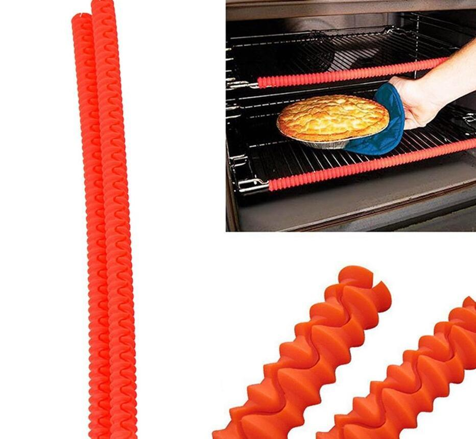 Oven Rack Guards Interlocking Silicone High Temperature Protection Oven Shelf Edge Guards Rack Shield OPP Bag Package