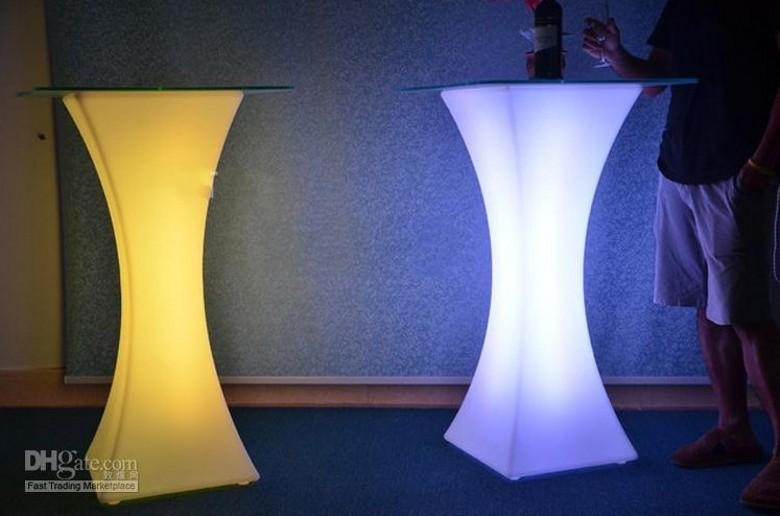 Yeni Şarj Edilebilir LED Aydınlık Kokteyl Masası Su Geçirmez Parlayan LED Bar Masa Işıklı Sandalye Sehpa Bar KTV Disko Parti Kaynağı AL002