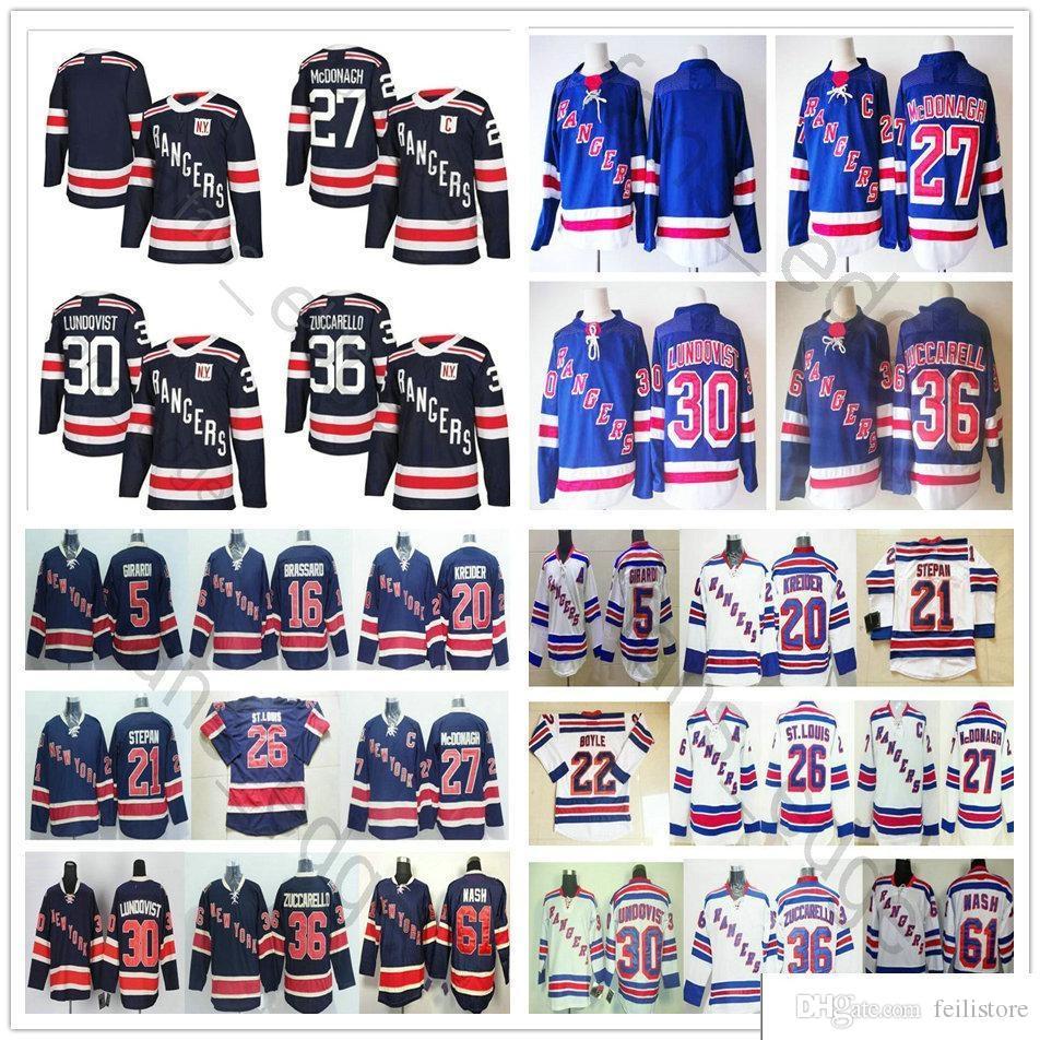 2018 New Season New York Rangers Winter Classic Hockey Jerseys  27 ... 236f4944d