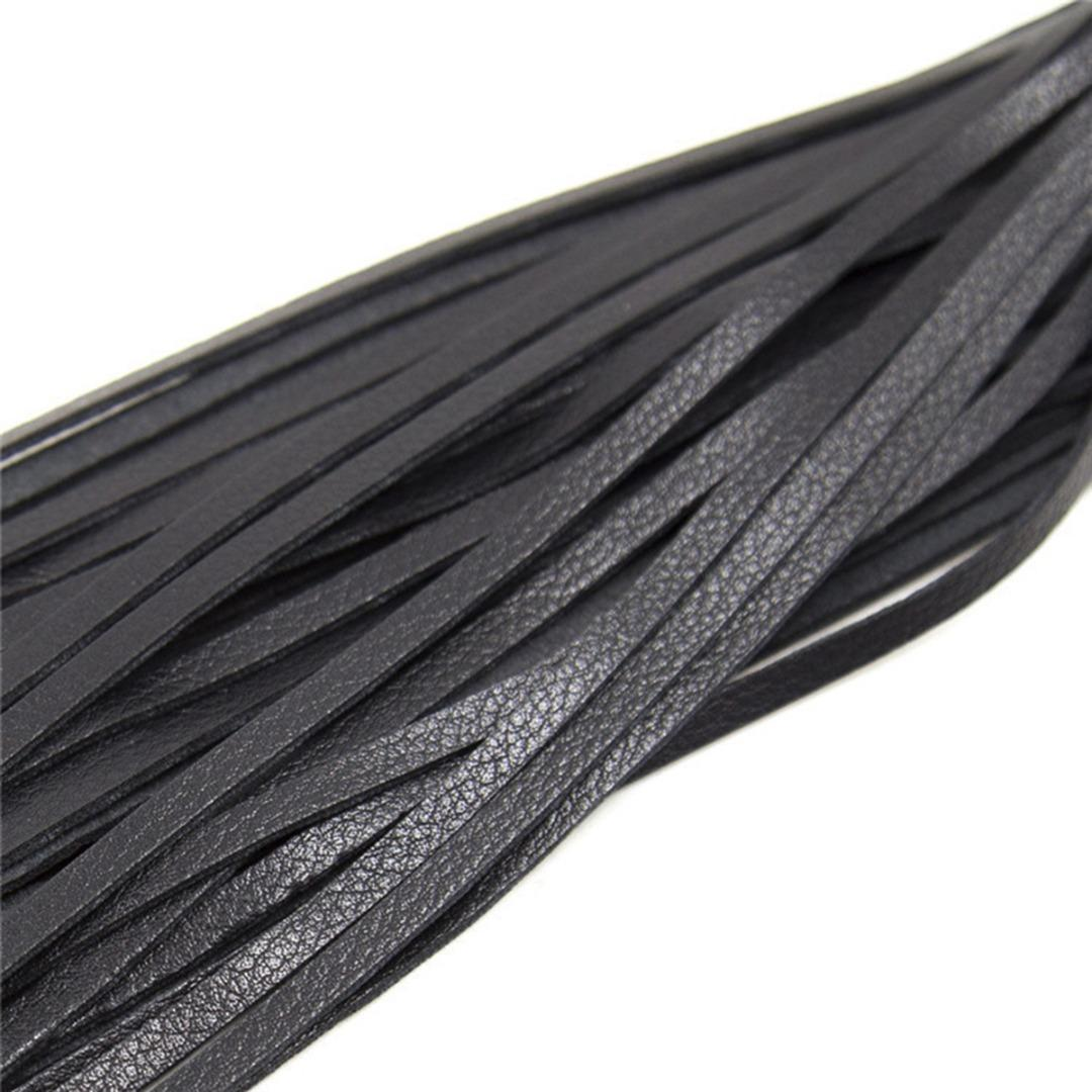 48cm Faux Leather Whip Riding Crop Party Handle Flogger Queen Black Horse Whip for Horse Racing Riding Entertainment